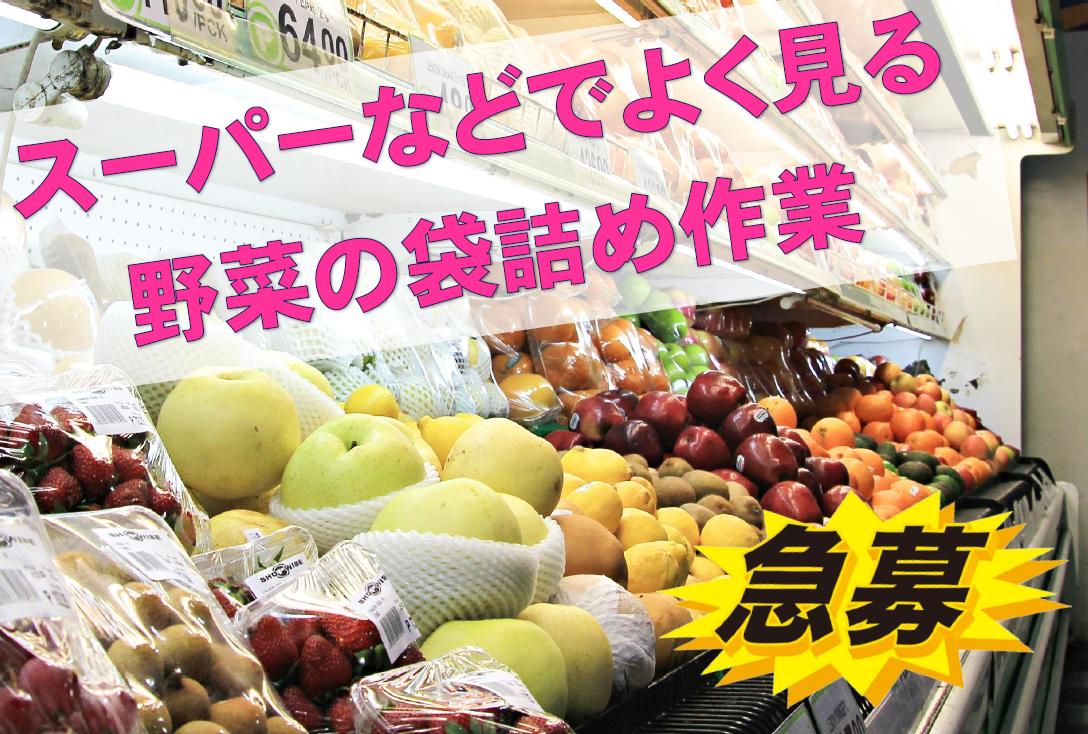 ◆友達と応募OK!◆カンタン野菜の袋詰め作業で未経験でもすぐに活躍可能◎◆ イメージ