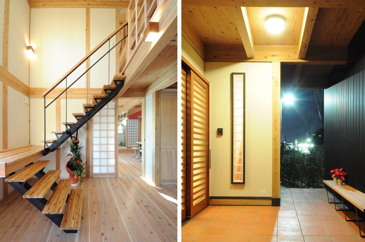 施工例①:住宅の中の写真です。木目を生かした柔らかい作りも得意なんです!